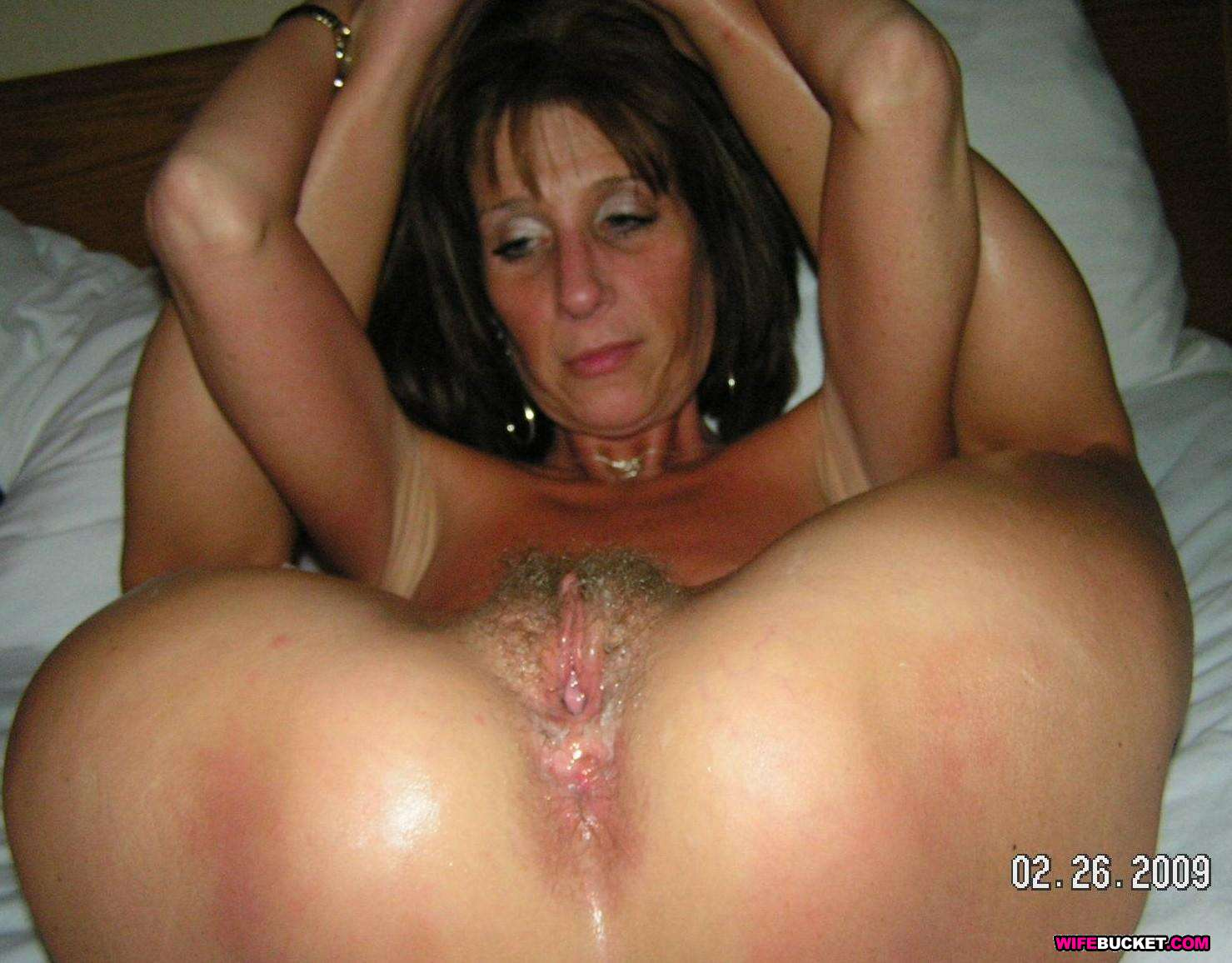 image Real amateur milf black male squatting in