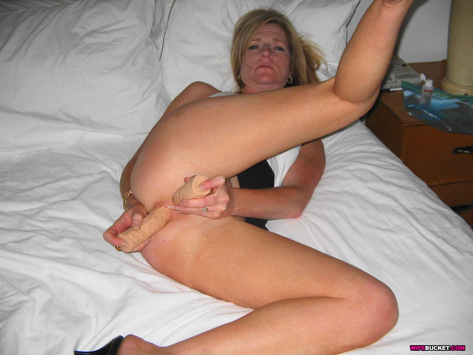 Drunk slut masturbating