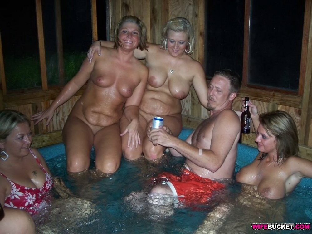 Alone! Hot tub party naked girls commit