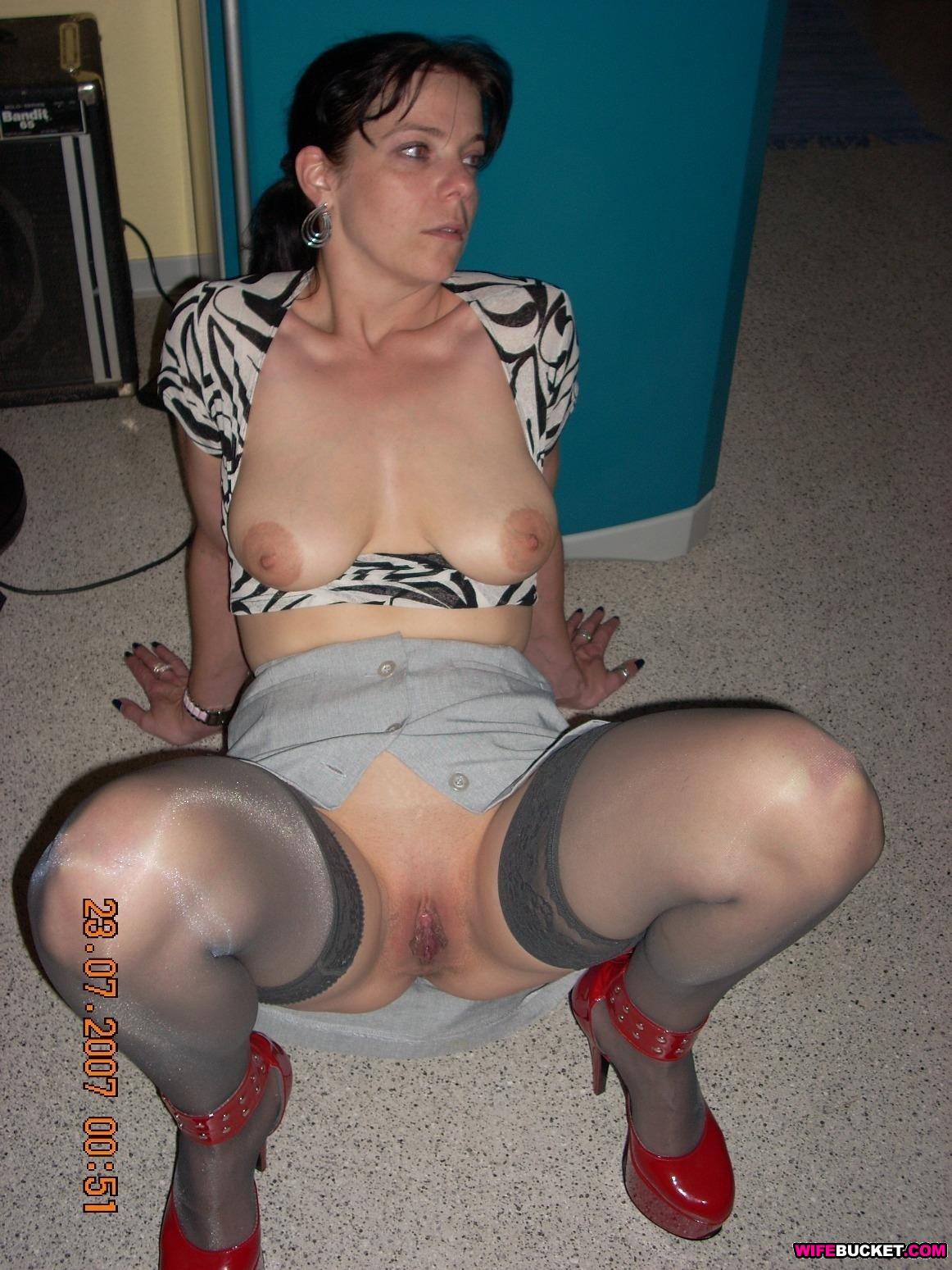 Fishnet big tits see thru lingerie