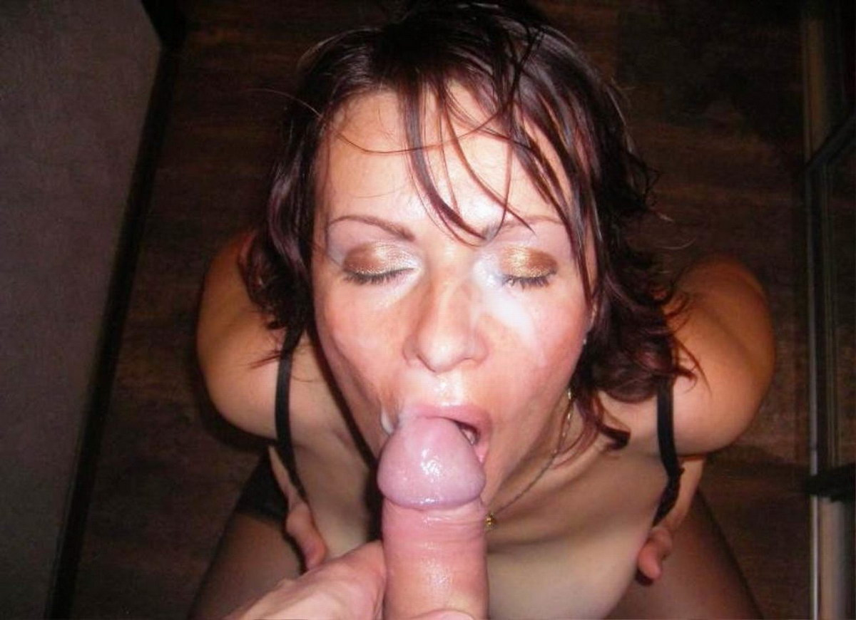 Mature amateur wives facial