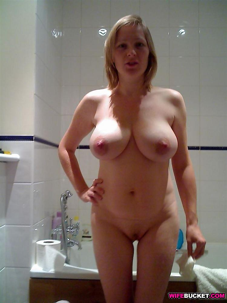 Amateur blonde wife stripping