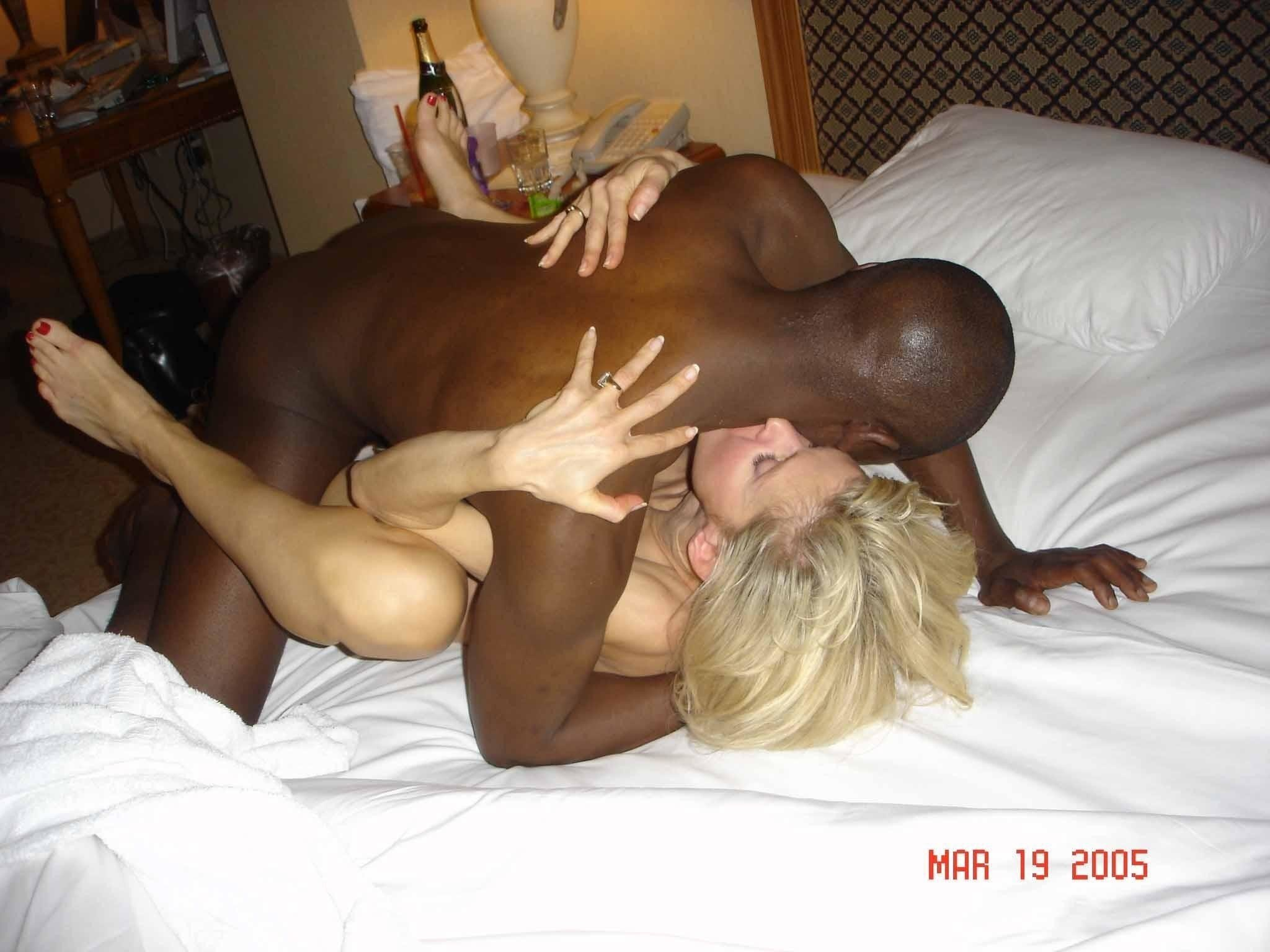 white slut servicing black cock