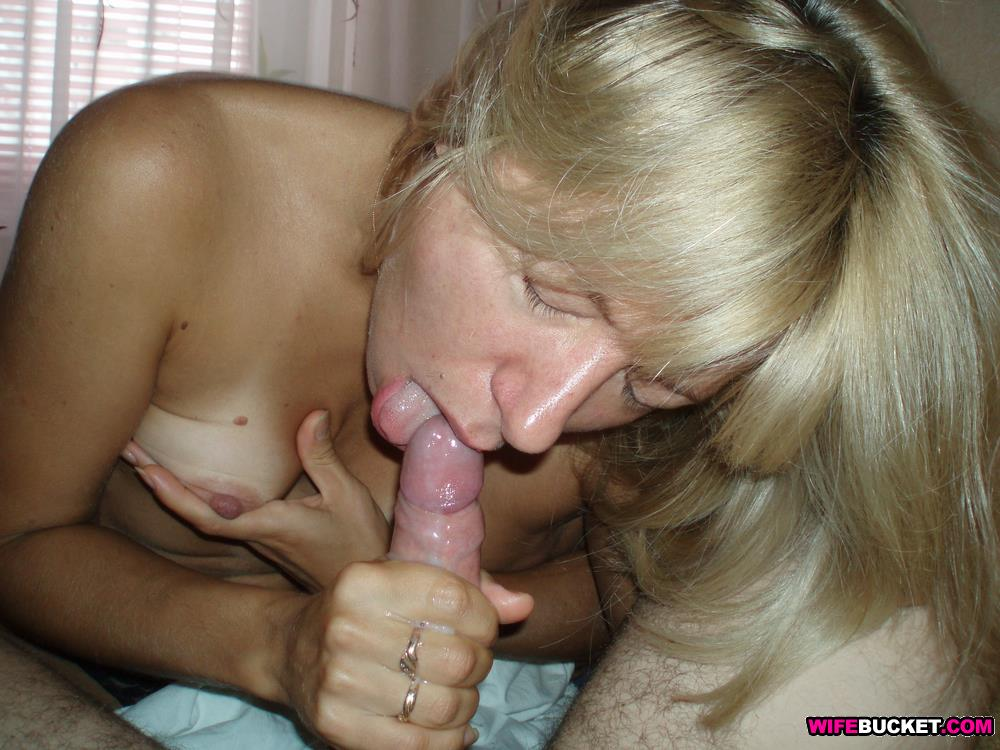 Gorgeous Blonde Wife Blowjob