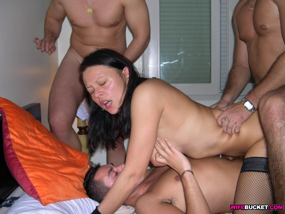 Amateur gangbang video