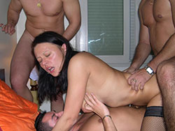 Wife naked gangbanged