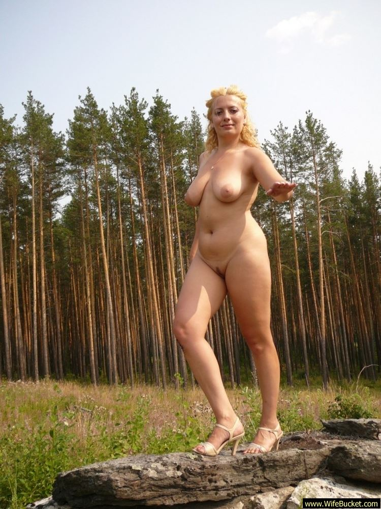 naked outdoors wife