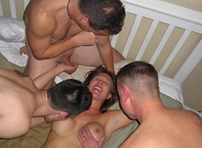 MILF takes on 3 Guys and Loves it