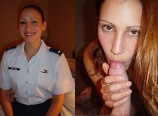 Amateur army wife loves blowjobs