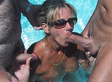 Blowjob Poolside in Las Vegas