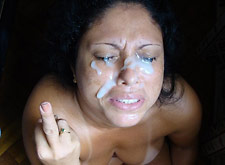 Cum Misfires Onto Her Face