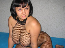 European MILF in Full Fishnet Outfit