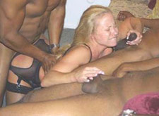 White Wife in an Interracial Orgy