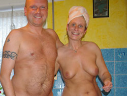 Full-frontal nudity from a real mature wife