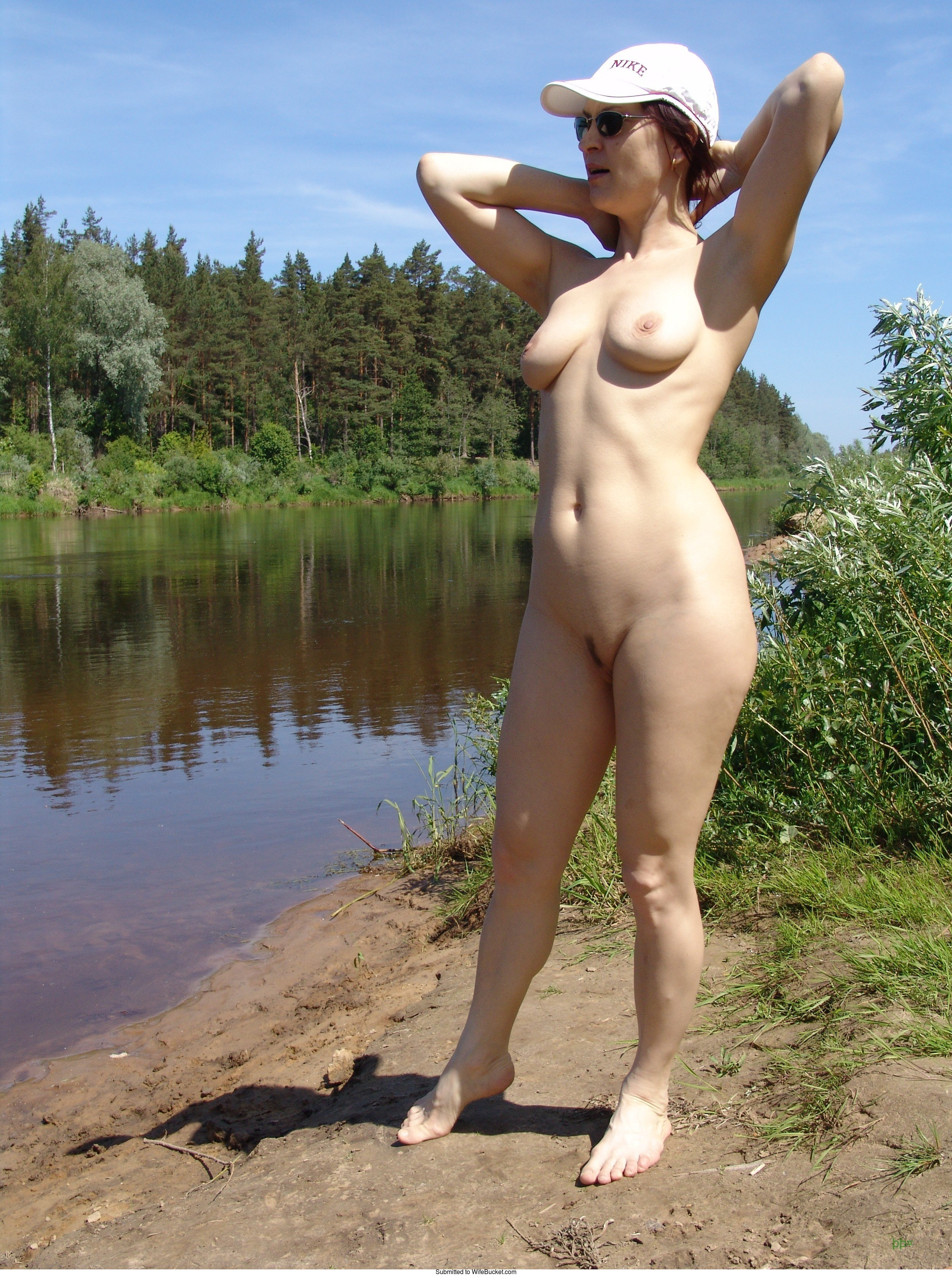 Wife casting amateur outdoor