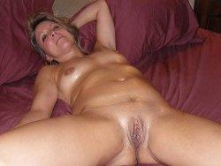 wife rubbing pussy