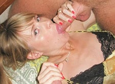 real MILF at swinger party