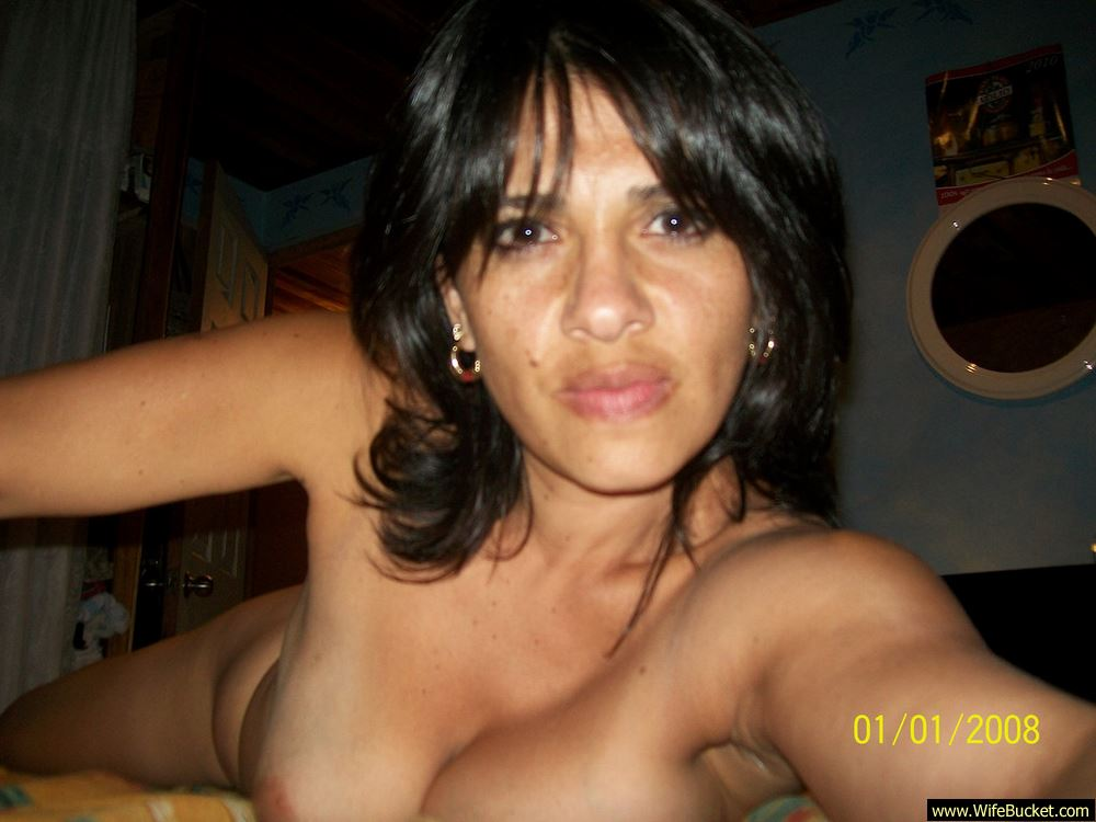 All clear, My naked latina wife