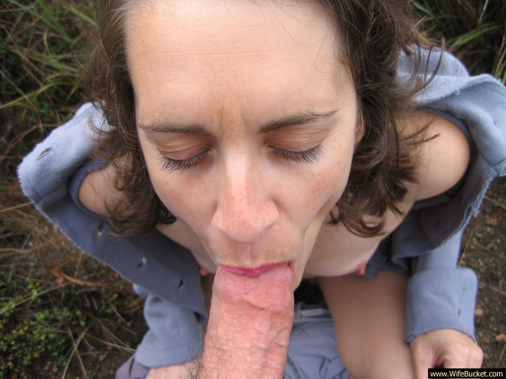 Amateur wife blowjob outdoors not