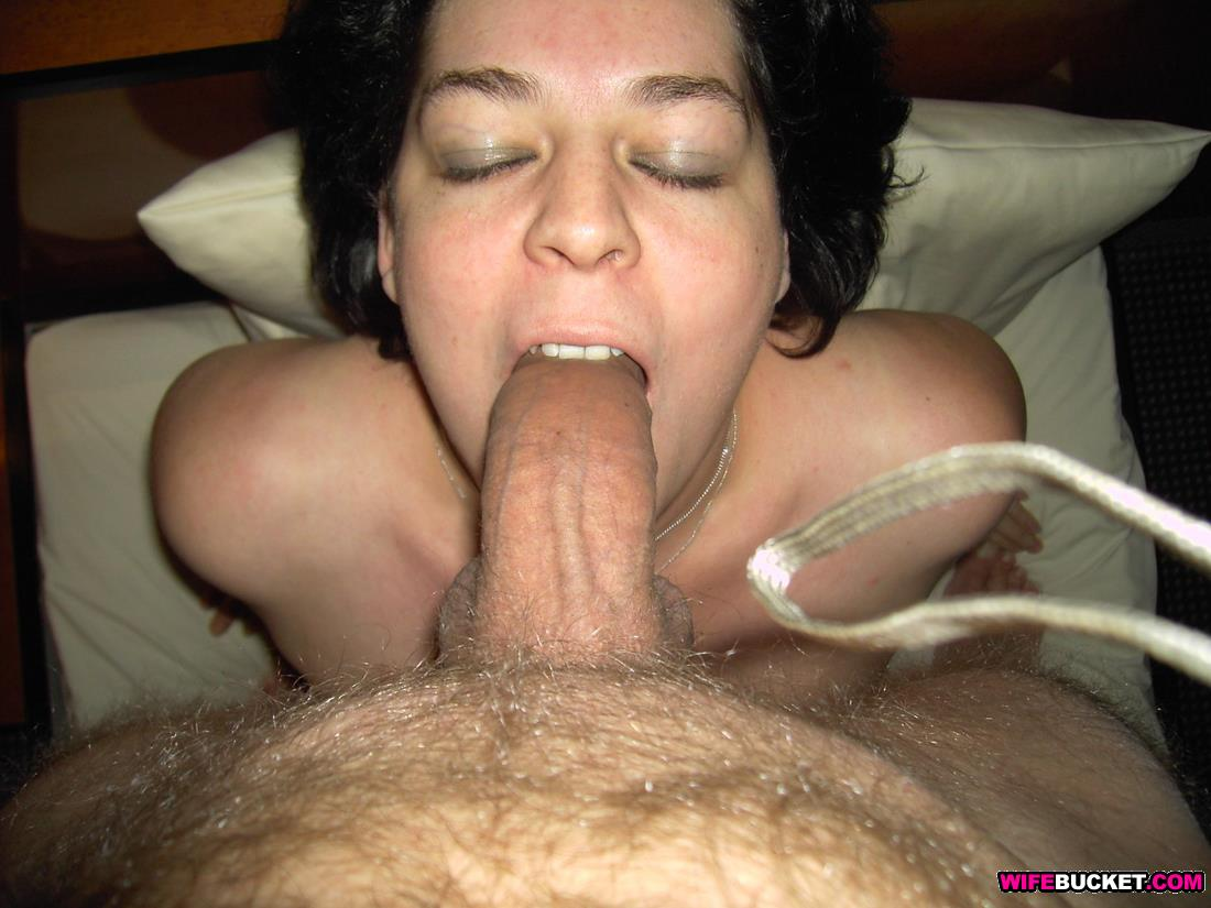 mature wife gives lover hot blowjob