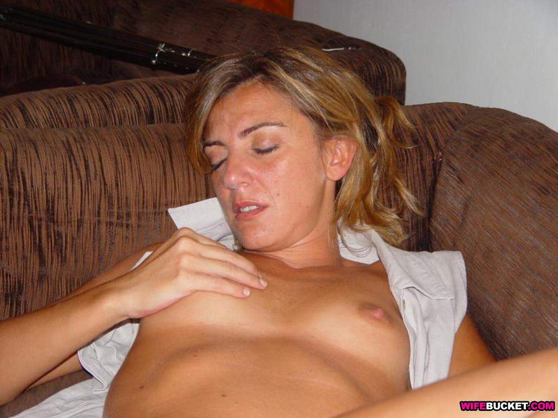 Naked wife in action