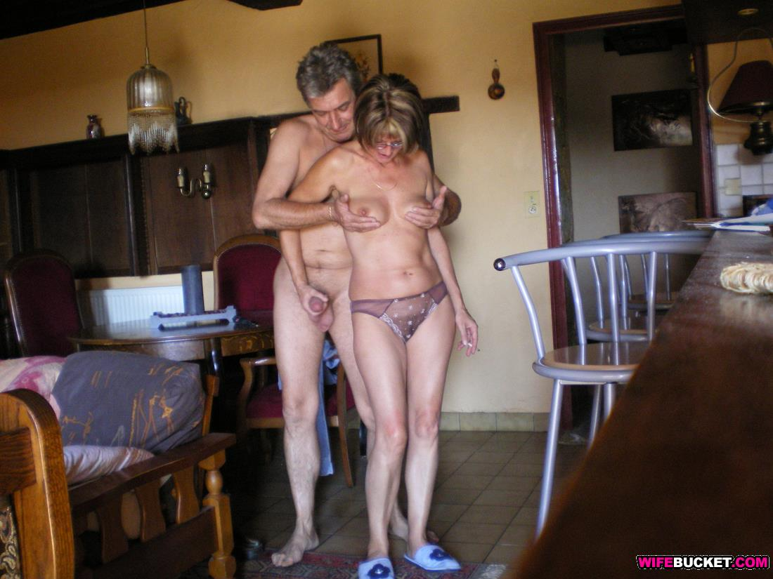 Naked outdoors mature couple
