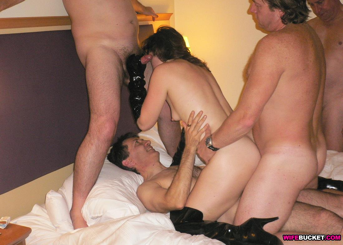 Cheating wife gangbang