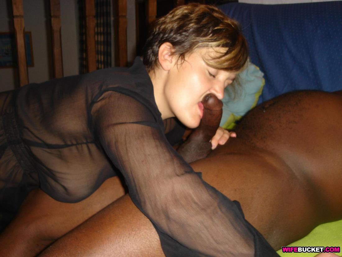 Interracial White Wives Fucking - White wife interracial blowjob
