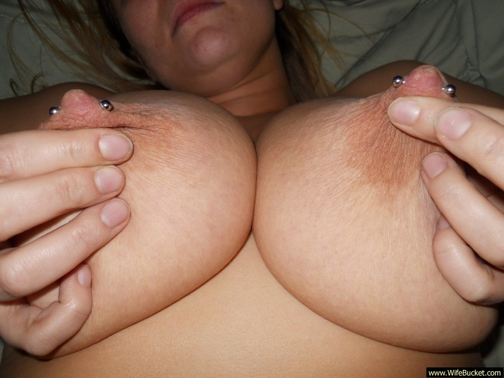 Big tits on top missionary position